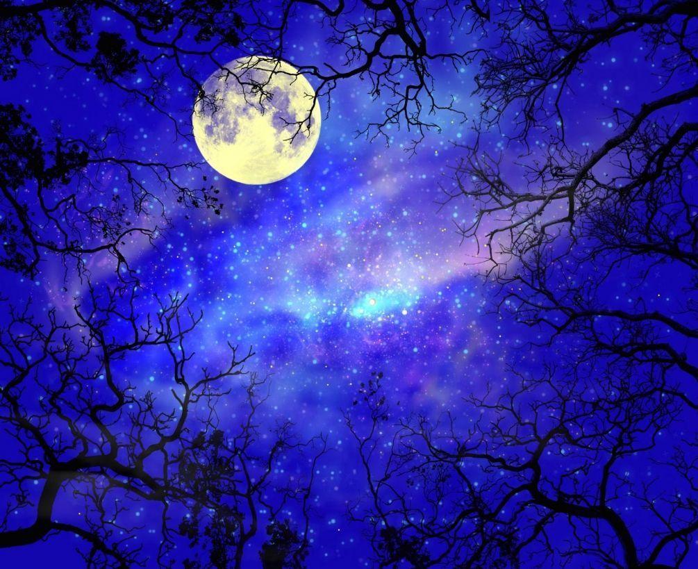 Поздравления, картинки луна и звезды красивые