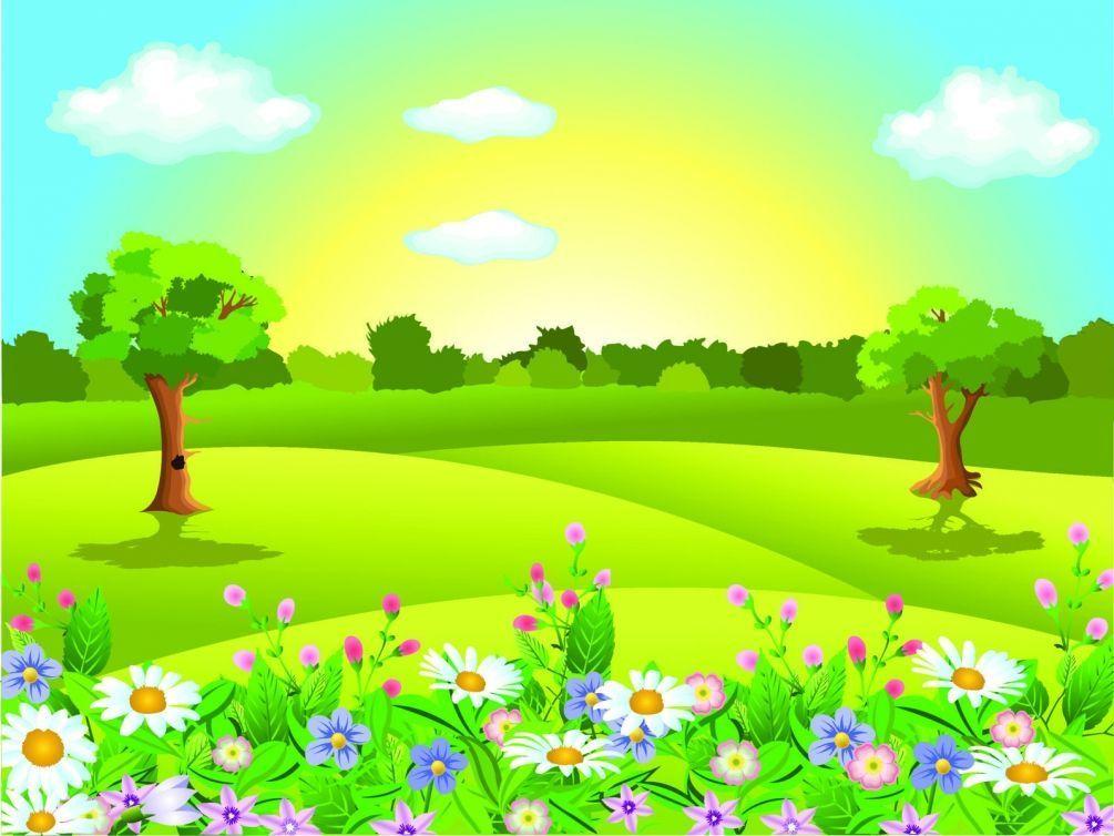 Рисованные картинки природы для детей
