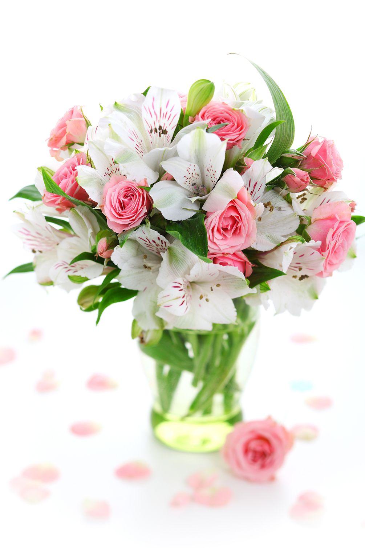 Поздравительная открытка в букет цветов, день
